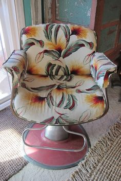 """Re-covered """"beauty shop"""" chair"""