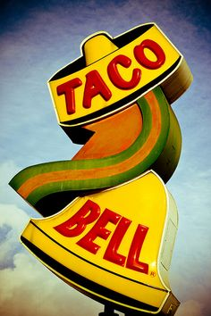 When the Taco Bell logo looked like this?  (before the damned dog!)