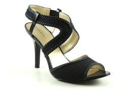 TAHARI 'LEE ANN' Women's Shoes Black Open Toe Sandals US Size 8.5