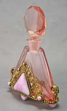 Czech Art Deco perfume bottle