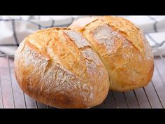 How to make easy bread at home: moist and delicious! - How to make easy bread at home: moist and delicious! Video Recipe – How to make easy bread at home: moist and delicious! Easy Food To Make, How To Make Bread, Easy 5, Easy Bread Recipes, Baking Recipes, Wow Recipe, Dutch Oven Bread, No Knead Bread, Bread Baking
