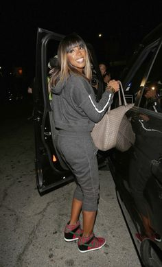 "#KellyRowland wearing #Nike Dunk Sky High ""London"""