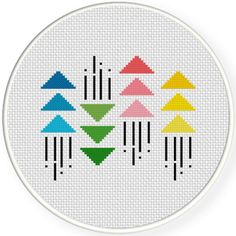 Charts Club Members Only: Minimal Geometric Pattern Cross Stitch Pattern