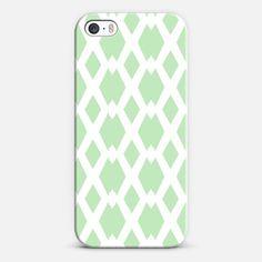 Daffy Lattice Mint iPhone 5s case by Lisa Argyropoulos | Casetify #case #iphone #casetify #lattice #mint
