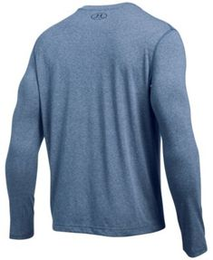 Under Armour Men's Threadborne Siro Long-Sleeve Henley Shirt - Gray XXL