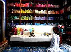Color-organized books to make you happy; apartmenttherapy.com