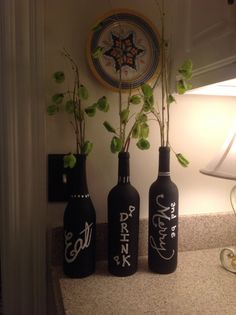 I NEED TO DO THIS!! My version of wine bottle diy!