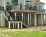 AZEK deck with custom landing and stairs