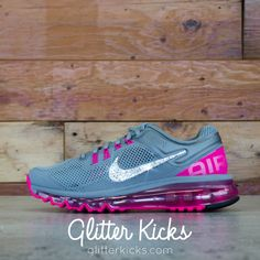 Women s Nike Air Max 360 Running Shoes By Glitter Kicks - Customized With Swarovski  Crystal Rhinestones 3add780fb7