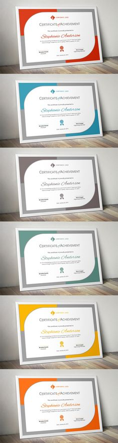 Modern certificate template (docx)