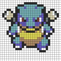 Blastoise Sprite Perler Bead Pattern | Bead Sprites | Misc Fuse Bead Patterns