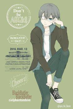 Kuroshitsuji | Bá tước Phantomhive Ciel trong bộ trang phục trẻ trung,  trông dễ thương hơn nhiều :)