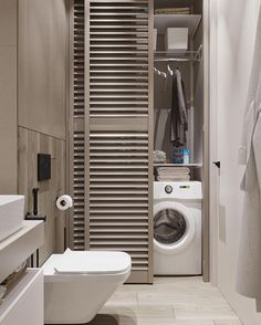 Laundry Closet Makeover, Laundry Room Remodel, Laundry Room Bathroom, Small Laundry Rooms, Best Bathroom Designs, Bathroom Design Small, Bathroom Interior Design, Modern Bathroom, Kitchen Room Design