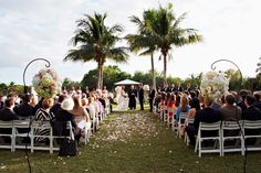 Cypress Courtyard Ceremony | Hyatt Regency Coconut Point | Wedding Published in TrendyBride | Photograph by Tonya Malay Photography