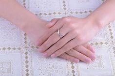 Fashion Femmes Charmed 925 Plaqué Argent Zircone cubique De mariage Bague Fiançailles