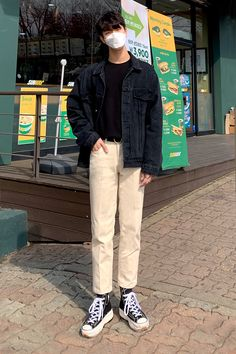 Korean Fashion Men, Korean Street Fashion, Korean Jeans, Korean Outfits, Streetwear Fashion, Cool Outfits, Outfits, Dress Shapes, Vintage Clothing