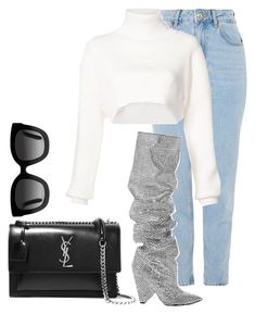"""""""casual #34"""" by sandradelangel on Polyvore featuring Topshop, Yves Saint Laurent, Alexandre Vauthier and Gucci"""