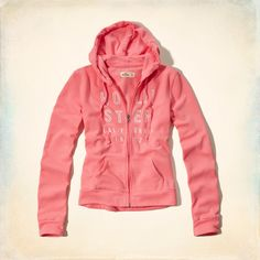 Hollister Women's Bay Park Hoodie Coral – FashionFest