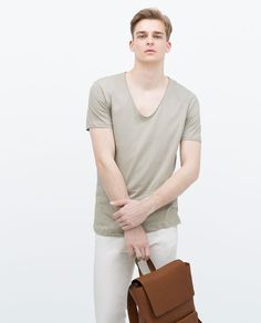 Image 1 of LUXURY COTTON T-SHIRT from Zara