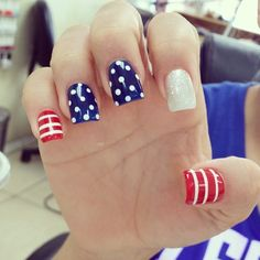 tienievuong july 4th #nail #nails #nailart