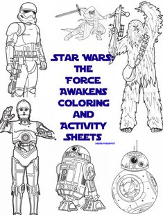 Have fun with your kids with these Star Wars The Force Awakens Coloring and Activity Sheets
