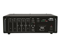 SSB-120DP: 120Watts PA #Amplifier with Digital Player  Power Output: 160W Max., 120W RMS at 10% THD  Input Channel: 5 x Mic 0.65mV/4.7kΩ, 2 x Aux 100mV/470kΩ Digital Player: Built-in MP3 Player with Remote Control (USB, SD and MMC Card Reader & FM Player) Tone Controls: Bass: ±10dB at 100Hz, Treble: ±10dB at 10kHz Outputs: Preamp 200mV/600Ω, Line 1V/1kΩ Speaker Outputs: 4Ω, 8Ω, 16Ω, 70V & 100V  www.atracoustics.com