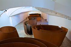 """""""The Matter of Time"""" by Richard Serra_1994-2005_Guggenheim Museum Bilbao, ES"""