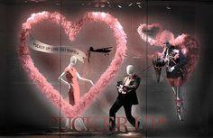 valentines store window displays | Valentine's Day window display.