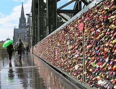Lock bridge in paris. Since I'll probably never get a boyfriend, i would put one on with my bestfriend