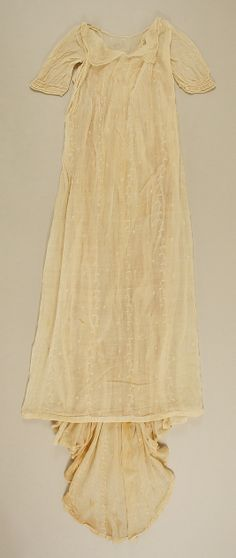 Dress, Evening  Date: 1800–1810 Culture: American Medium: cotton