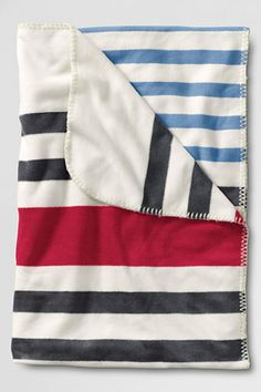 for the pup. Stripe Fleece Throw from Lands' End