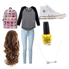"""""""School"""" by xoxadame ❤ liked on Polyvore"""