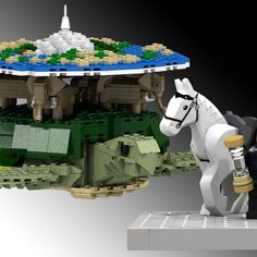What's flat, plastic, and sits on the back of four elephants atop a turtle flying through the abyss of space? Lego Discworld, that's what, and it could be joining your collections after gaining 10,000 votes of support on the Lego Ideas platform