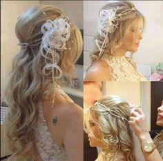 Acessório para penteado de noiva.