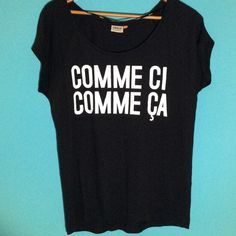 Black Graphic Tee NWOT Black Graphic Tee - Comme Ci Comme Ca ONLY Tops Tees - Short Sleeve