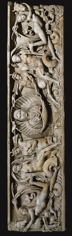A MARBLE MARINE SARCOPHAGUS, ROMAN IMPERIAL, CIRCA 1ST QUARTER OF THE 3RD CENTURY A.D., AND LATER