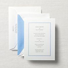 Pearl White Embassy Framed Wedding Invitation