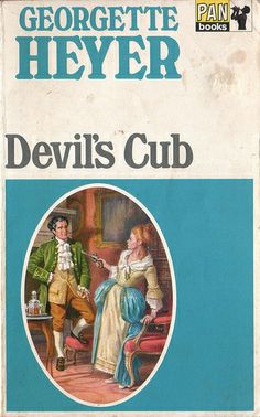 Devil's Club by Georgette Heyer. Published Again, this is the cover of my copy (and old one) - many different covers for this, it's been republished many times. Good Books, Books To Read, My Books, Georgette Heyer, Book Cover Art, Book Covers, Romance Novels, Cubs, Audio Books