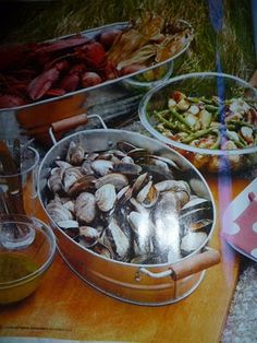 clam bake ideas  #OKLSUMMER