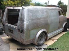 custom CF van back to bare metal ready for etch primer
