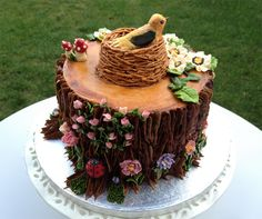 Enchanted forest cake- yeah right!  I'll be whipping this one up!  haha.