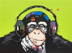 Image result for monkey headphone
