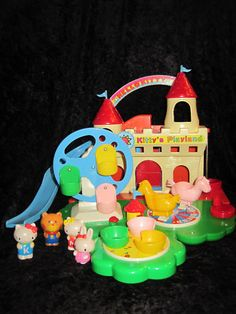 RARE Vintage Sanrio Hello Kitty Playland Set w/ Box-- with all the HK stuff I had as a child, this is one I didn't have.