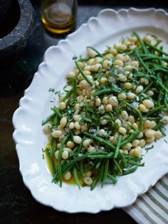 Haricots Verts and White Beans with Shallot Vinaigrette Recipe Contributed by David Tanis
