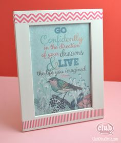 """Go Confidently Grad Print - from this free printable in a 5"""" x 7"""" frame and give as a great homemade graduation present!"""