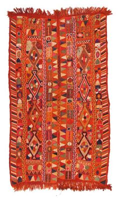 Arabi Rug - an embroidered kilim around 50 years old made by the Arabs of southern Iraq