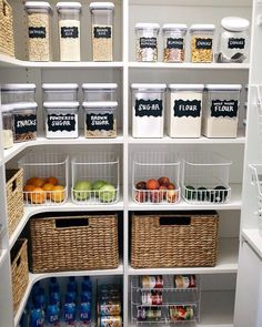 "8,858 Likes, 207 Comments - #LTKhome (@liketoknow.it.home) on Instagram: """"I love to cook, so an organized pantry is a must! Clear containers with labels are a great way to…"""