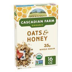 Cascadian Farm Organic Granola, Oats and Honey Cereal, 16 oz, Multicolor Organic Cereal, Organic Granola, Organic Snacks, Eating Organic, Organic Recipes, Keto Granola, Granola Cereal, Granola Oats, Oats And Honey