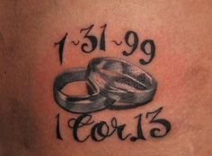 love this verse it was read at our wedding husben wife tattoos | Matching Tattoos Husband And Wife Pictures