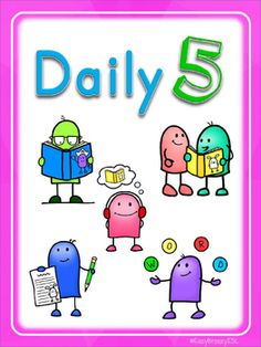 This pack includes two sets of illustrated Daily 5 posters, a set of 12 bookmarks and a set of small cards. These posters are unofficial adaptations o Daily 5 Posters, Small Cards, Teaching Materials, Bookmarks, Education, Esl, Sisters, Kids, Educational Illustrations